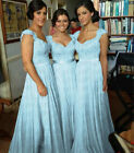 Light Blue Handwork Chiffon Formal Prom/Bridesmaid Cocktail Party Evening Dress