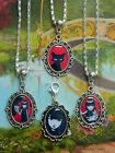 EMILY THE STRANGE CHARM NECKLACE OR CLIP ON CHARM NEECHEE GOTH GIRL TEEN
