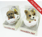 Cute Dog in a cup Pet tremble bobble head air refresher car deco novelty