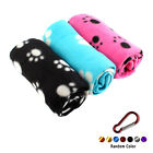 Pet Blanket Fleece Soft Cat Dog Puppy Warm Paw Print Soft Mat +Keychain