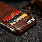 Fashion Card Slot Leather Cover Soft TPU Case Pouch For Samsung Phones Accessory