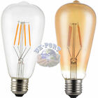 E27 Retro Filament LED Bulb 4W,6W Dimmable/Non-Dimmable Clear/Amber Glass cover