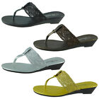 New Womens Sandals Wedge Shoes Low Heels Flip Flops Thong Size 5 to 11 BABY-101
