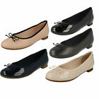 Ladies Clarks Couture Bloom Slip On Ballerina Style Shoes D Fitting