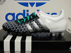 NEW ADIDAS Ace 15.3 FG/AG Men's Soccer Cleats - White/Black;  AF5151
