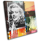 New York Abstract Grunge Vintage SINGLE CANVAS WALL ART Picture Print
