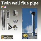 6 inch Diameter Twin Wall Flue Internal System - For use with Woodburning Stove