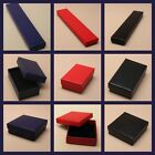 JEWELLERY GIFT BOX QUILTED LOOK BLACK RED BLUE BRACELET NECKLACE RING EARRINGS