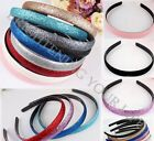 5Pcs Fashion Women Lady Girls Plastic Glitter Headband Hair Band Hoop