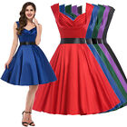 VINTAGE Satin 50's Housewife Pinup Swing Evening Prom Dress PLUS SIZE