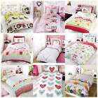 Girls Single Duvet Set - Pillowcase Cover - Kids Hearts Fairy - NEW BEDDING