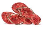 Havaianas Women`s Flip Flops Sexy Slim Thematic Sandal Ruby Red Sizes 5-12 NWT