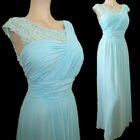 New Lace Top Chiffon Formal Evening Bridesmaid Prom Cocktail Dress Ball Gown