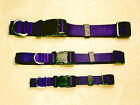 "Personalized Monogrammed Adjustable Dog Collars 1"" , 3/4"", 5/8"" Wide Heavy Nylon"