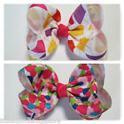 Baby/Toddler/Girl/Adult 4 Inch Boutique Hair Bows on Lined Clips - Patterns