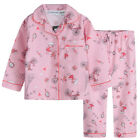Pyjamas Girls Winter Flannel Pjs (Sz 8-14) Set Pink Paris Sz 8 10 12 14