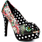 IRON FIST HOOTERS PEEP TOE  HIGH HEELS PLATFORM SHOES