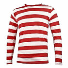 NYC Long Sleeve PUNK Emo mime Stripe Striped Shirt Red White Men's S M L XL