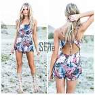 Women Lady Sexy Jumpsuit High Waist Backless Beach Playsuit Shorts Rompers TXST