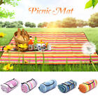 Extra Large Family Picnic Camping Fleece Waterproof Rug Mat Blanket 150x200cm