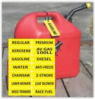 GAS CAN ID TAG LABEL, Diesel, Gasoline, Kerosene, Anti-freeze, etc.FREE SHIPPING