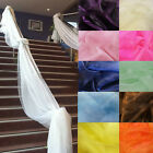 5M Soft Sheer Organza Fabric DIY Tulle Wedding Party Stairs Table Swags