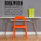 Bookworm Definition Book Wall Decal Removable Book Wall Sticker Lettering Read