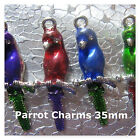 Parrot Charms Colorful 35mm Silver Plated Charms Jewelry Findings