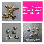 Hear Charms Silver Plated Gold Plated Soild Hearts Puff Flatback