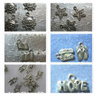 Word Charms Sun Hope Love Flip Flop Star ABC Book  Silver Plated