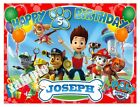 Paw Patrol Icing Birthday Edible Image Cake Topper Personalized Frosting Sheets
