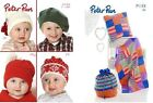Peter Pan Baby Children's Knitting Patterns,  blanket,  hat, etc - 16 to chose from