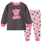 Pyjamas Girls Winter Cotton Knit Pjs (Sz 3-7) Set Dark Grey Teddy Bear Sz 3 4 5