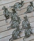 CAT SHAPE Silver Mirror Acrylic PERSONALISED Table Confetti, Scatter Favours