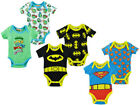 2Pk Batman Superman Ninja Turtles Baby Bodysuit Vest Superhero Babygrow T Shirt