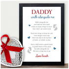 Walk Alongside Me Daddy 1st First Fathers Day Poem Personalised Gifts Father Day
