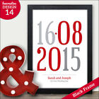 Memorable Date Personalised Gifts Print for Weddings Engagements Anniversaries