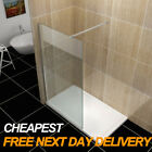 Walk in Wet Room Shower Enclosure 8mm Glass Screen Cubicle Side Panel Stone Tray