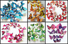 3D Butterfly Art Decal Home Decor PVC Easter Butterflies Wall Stickers 12 Pcs