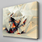 AB754 white grey orange Geometric Canvas Wall Art Abstract Picture Large Print