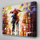 AB908 Modern love umbrella orange Canvas Wall Art Abstract Picture Large Print