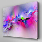AB969 large multicoloured pink Canvas Wall Art Abstract Picture Large Print