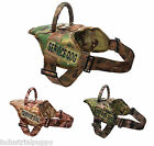 Service Dog Vest Harness, Tactical Camo Dog Harness w/ 2 Service Dog Patches