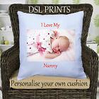 Personalised Cushion Pillow Case Cover I Love My Nanny Mummy Dad Photo Custom