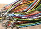 10 20 50 100pcs Colours Braided Leather Necklace Cord 480X3MM