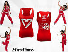 Zumba Fitness ~ PARTY HEARTY RACERBACK Tank Top RED NEW NWT Zumbawear Unique HTF