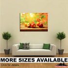 Wall Art Canvas Picture Print - Fruit Apples Autumn Foliage Food 3.2
