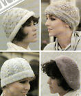 LADYS VINTAGE KNITTING PATTERNS ACCESSORIE HATS GLOVES SCARF'S TOTE BAGS MITTENS