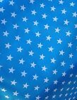 LARGE STARS PEACOCK  POLYCOTTON FABRIC - POUND COIN SIZE STARS - CUT OF THE ROLL segunda mano  Embacar hacia Spain