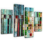 MAB962 green mosaic glass Canvas Wall Abstract Art Multi Frame Picture Print